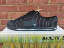 New listing New/Boxed Macbeth Trainers Shoes Canvas Black Skate Casual lace-up. Size UK 8.
