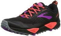 Brooks Womens Cascadia 13 Trail Running Shoes - Black/Coral/Purple - B Width