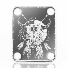 Engraved Guitar Neck Joint Heel Plate (Standard 4 Bolt) CHROME #2108