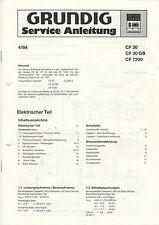 Grundig Service Anleitung Manual CF 30 CF 30 GB CF 7200  B993