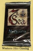 7th Sea No Quarter Booster Pack from Box NEW Trading Card Game Seventh