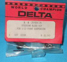 Delta Steering Block Kit 1/12 Axle Spindle Vintage RC Part 11353