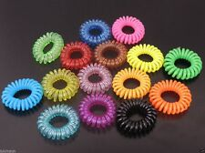 20PCS Women Multi-Colored Plastic Hair Rings Telephone Line Bands 38*38mm