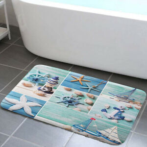 Lighthouse, Anchor, Starfish Shower Curtain Toilet Cover Rug Mat Contour Rug Set