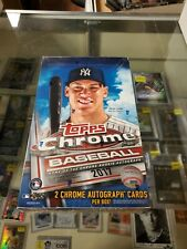 2017 Topps Chrome Baseball Sealed Unopened Hobby Box Aaron Judge RC Year