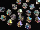 50pcs 8mm Bicone Faceted Crystal Glass Findings Loose Spacer Beads Clear AB