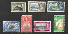 Ceylon, selection of 7 G5 & G6 stamps m/mint.