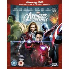 Marvel Avengers Assemble 3D BLU RAY SEALED,AND IN SLIPCASE COVER.. (,2-Disc )