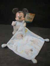 doudou mickey bleu gris blanc étoile mouton 123 disney baby neuf