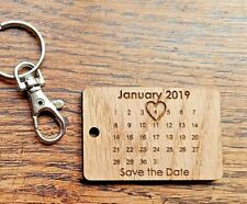 Laser Cut Double Engraved Wood Oak or MDF Save The Date Will You Be My .......