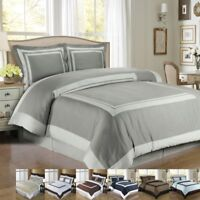 Luxury 100% Cotton Hotel Duvet Cover Set