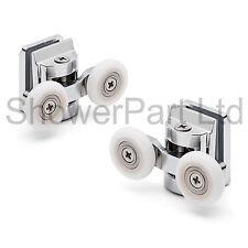 2 X Top Twin aleación de zinc Puerta de ducha rollers/runners 25mm Rueda Dia L067 8 Mm