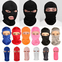 1PC Full Face Mask Balaclava Ultra-thin Motorcycle Cycling Ski Neck Protecting