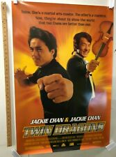 """""""Twin Dragons"""" Original Movie Theater Promo Poster Jackie Chan Dimension Films"""