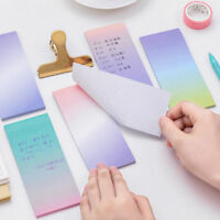 Lovely Rainbow Colorful Sticky Notes Writing Student Study Paper Memo Pad