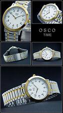 Bi-color Osco Elegante Reloj para hombre atractivo Acción OFERTA NUEVO