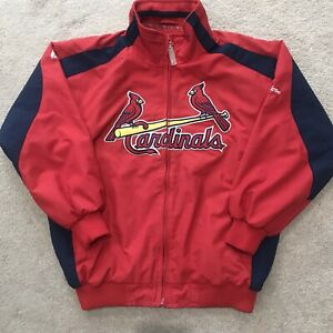 Majestic St Louis Cardinals Full Zip Windbreaker Jacket MLB Youth Medium