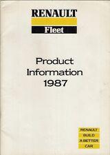 Renault 1986-87 UK Market Fleet Sales Brochure 5 9 11 21 25 Espace GTA Extra