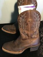 ARIAT Sport Outfitter Brown Leather Square Toe Western Boots Men's Size 8.5