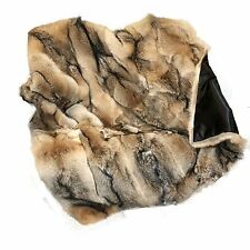 Glacier Wear North Eastern Coyote Fur Throw Blanket