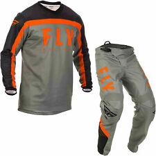 "Fly Racing 2020 F-16 Motocross Jersey & Pants Grey Orange Kit MX 32"" Medium"