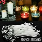 20 X 200Mm Long Pre Waxed Candle Core For Candle Making With Metal Sustainer`S