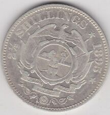 SOUTH AFRICA 1895 KRUGER SILVER HALF CROWN IN NEAR VERY FINE CONDITION