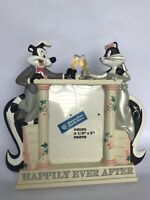 Warner Brothers PEPE LE PEW & PENELOPE Wedding Frame Happily Ever After
