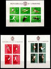 San Marino 1960 Rome Olympic Games Imperf Souvenir Sheets - MLH