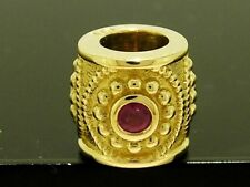 Bd030 Genuine 9K 9ct Solid Yellow Gold Natural Ruby Bead Charm Victorian design