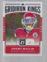 2016 Donruss Optic GRIDIRON KINGS #7  JEREMY MACLIN  CHIEFS