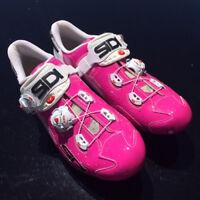 New SIDI WIRE Carbon Road Bike Cycling Shoes Fuxia Pink EU40.5-44.5 US Warehouse