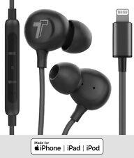 Lightning Headphones w/ Mfi Apple Certified iPhone Connector Earbuds w/ Mic