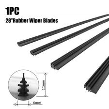 1pc 28'' 6mm Car Bus Silicone Universal Frameless Windshield Wiper Blade Refill
