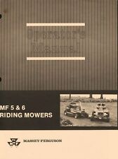 Massey Ferguson MF 5 MF 6 MF5 MF6 Riding Mower Operators Manual