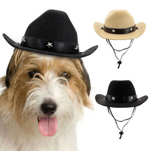 Dog Cowboy Hat Costume Accessory Pet Funny Holiday Party Cosplay Hats Halloween