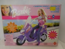 Barbie Scooter Vehicle w/ Barbie and Equipments + Box Limited Super Rare Mattel