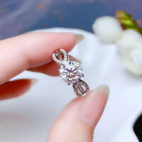 2Ct Round Moissanite Attractive Solitaire Engagement Ring 14k White Gold Finish