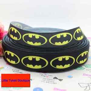 """Batman Yellow Ribbon 7/8"""" Wide NEW UK SELLER FREE P&P 1m is only £1.49"""