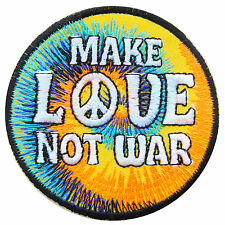 Peace Make Love Not War Freedom 70's Hippie Boho Rasta Pot Iron-On Patches #R038