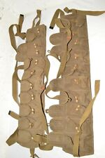 LOT 2 Original Chinese SKS Rifle Chest Rig Bandolier Ammo Pouch vintage