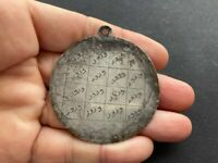 ISLAMIC ARABIC ANTIQUE SILVER TALISMAN AMULET OCCULT PROTECTIVE PENDANT