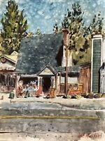 """Original Watercolor Painting  Running Springs , CA 9""""x12"""""""