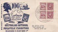 AFD1853) Australia 1950 FDC, Anpex, Centenary 1850-1950 first adhesive postage s