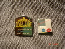 2 Original VW/ Pins 1. Internationales Rock Festival , Service Nadel