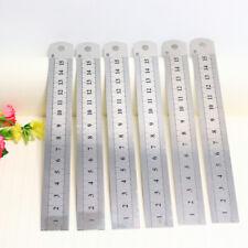 1Pcs Stainless Steel Metal Rule metric & imperial 150mm long Engineers Ruler
