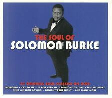 THE SOUL OF SOLOMON BURKE - 2 CD BOX SET - CRY TO ME, TONIGHTS THE NIGHT & MORE