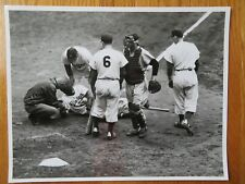 JACKIE ROBINSON No. 42 BROOKLYN DODGERS sliding NEW YANKEES World Series Photo