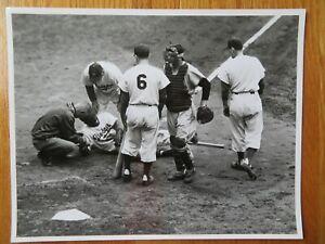 JACKIE ROBINSON No. 42 BROOKLYN DODGERS sliding NEW YANKEES World Series Photo