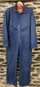 Vintage WALLS Mens Large Size 42-44 short Blizzard Pruf Insulated Blue Coveralls